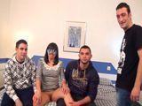 Mujer casada en manos de tres jóvenes - Españolas