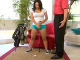 Enseño a mi secretaria a jugar a golf - Secretarias