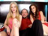 Viendo porno con mi mujer y su hermana - Cerdas